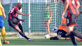 Nicolas Anelka scored his first goal for West Brom against Puskas Academy