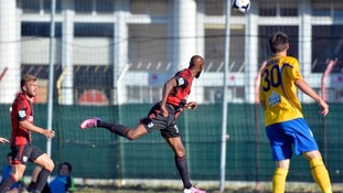 Anelka scored a second goal in the first half