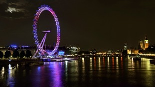 The London Eye celebrates birth of the Duke and Duchess of Cambridge's son.