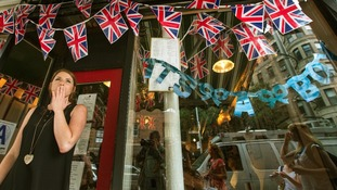 Hayley Simmonds celebrates the news at the British themed restaurant Tea & Sympathy in New York.
