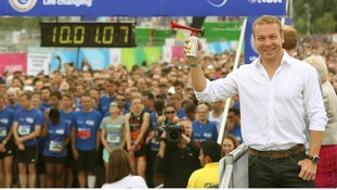 Sir Chris Hoy officially started The National Lottery Anniversary Run earlier this week.