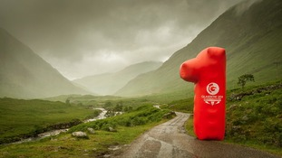 Glen Etive in the Highlands , to mark exactly One Year to the Opening Day of the 2014 Commonwealth Games in Glasgow.