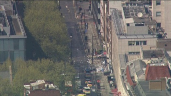 Siege in Tottenham Court Road in London