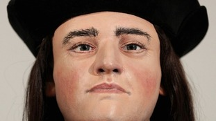 The face of Richard III.