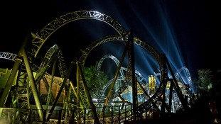 Alton Towers Resort  Smiler ride in Staffordshire.
