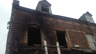 Fire damage exterior