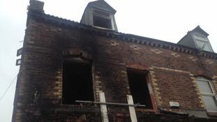 Fire damage exterior
