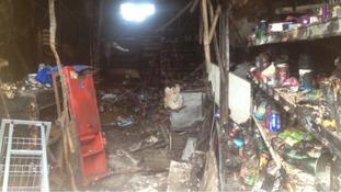 Fire damage interior