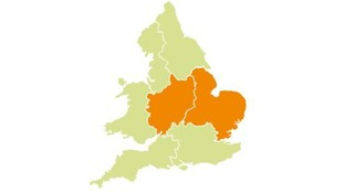 Flood alerts have been issued for Anglia and the Midlands.