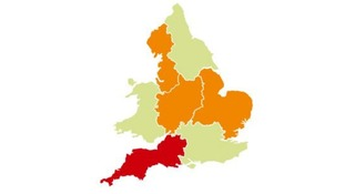 The Environment Agency's flood warning map.