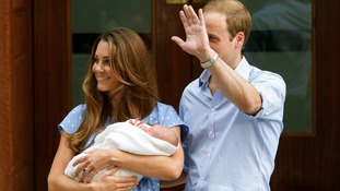 Is this the new baby's first royal wave?
