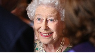 The Queen smiles at a reception for the Winners of the Queens Award for Enterprise 2013.