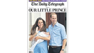 The Daily Telegraph hails 'our little prince'.