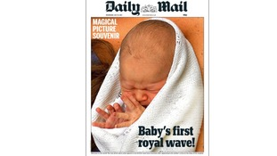 The Daily Mail shows the prince's first wave.
