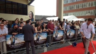 Crowds in Anglia Square ahead of the premiere of Alpha Papa