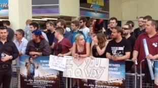 Crowds get ready to greet Alan Partridge