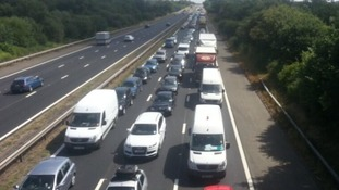 Queues of traffic on the M3