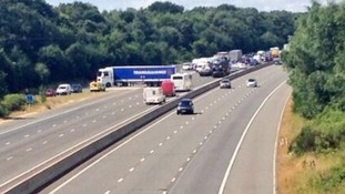 M3 cleared of traffic after crash