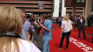 Alan Partridge on the red carpet at Anglia Square in Norwich
