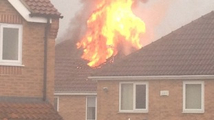 Lightning struck Heanor home of Stuart Craven's mother and set it alight.