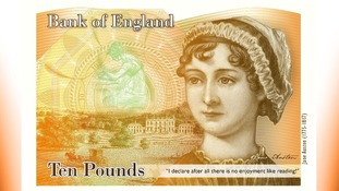 Jane Austen will feature on £10 notes.