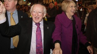 Irish President Michael D Higgins with his wife Sabina.