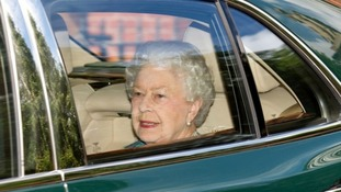 The Queen was driven from Buckingham Palace to Kensington Palace to meet the new arrival