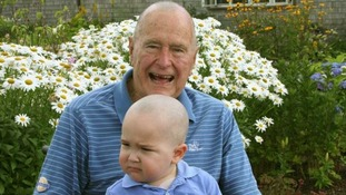 George Bush Sr shaved his head in solidarity with Patrick.
