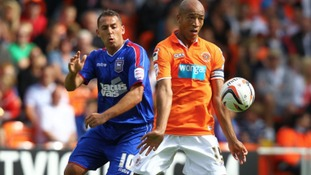 Michael Chopra, pictured here playing against Blackpool, has today joined the Seasiders