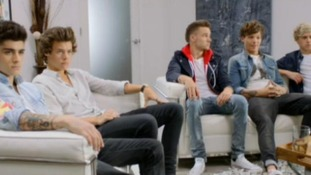 One Direction pictured in their new music video.