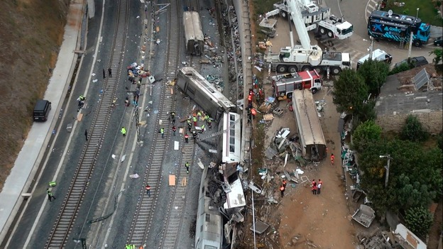 Spain rail crash footage emerges