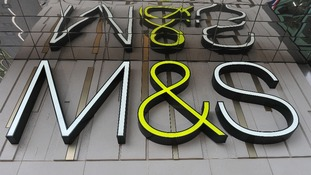Marks and Spencer sign.