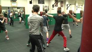Small Heath boxing gym in Digbeth.