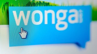 An image of Wonga's website.