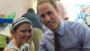 Amanda Slann with Prince William