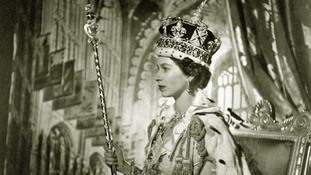 A portrait of the Queen taken in Buckingham Palace after her Coronation.