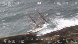The ship disappeared below the waves within minutes to the crew being rescued.