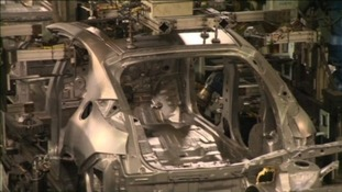 Honda car on production line