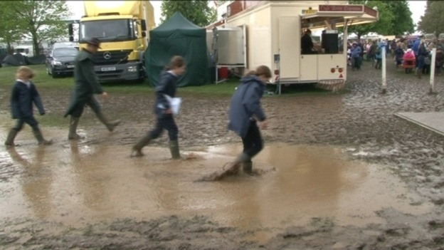 Muddy punters at Badminton 2010
