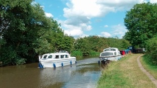 Trent and Mersey Canal and boats in the sunshine