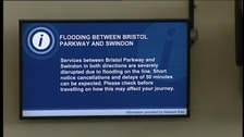 Network Rail flood warning sign