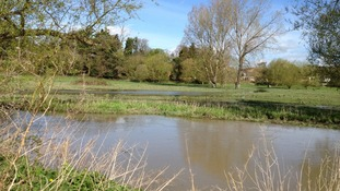 Flooding River Ouzel, Leighton Buzzard