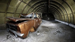 The car lay hidden in the tunnel for three decades