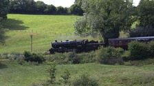 The Flying Pig, pictured here between Highley and Arley in Worcestershire, returns to the Severn Valley Railway.