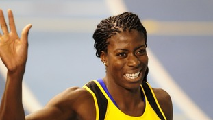 Britain's Christine Ohuruogu, who won silver at the London 2012 Games, stormed to victory in the Anniversary Games today.