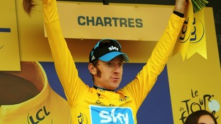 Wiggins pictured at stage seven of last year's Tour.