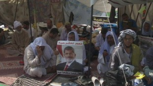 Supporters of Egypt's deposed President Mohamed Morsi continue to protest for his reinstatement.