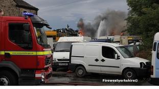 Scrapyard blaze