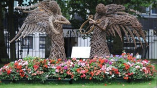 One of Birmingham's floral displays, created for a gardening competition in 2012
