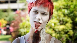 People went all-out with make-up, covering themselves in fake blood and wounds